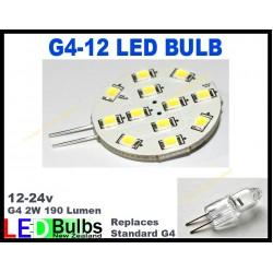G4 Horizontal 12 LED 8-30v