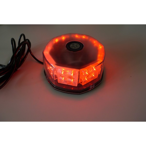 Red flashing Beacon 16W 12-24v