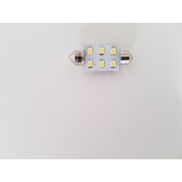 37mm Festoon 10-30v. 6 SMD leds