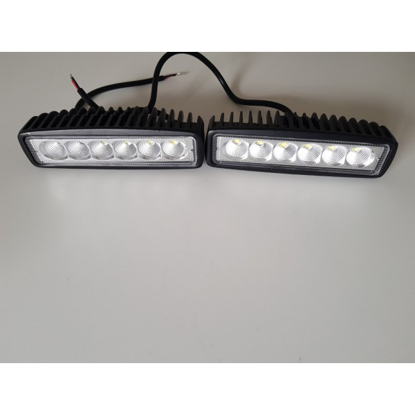 2pce - 18W LED light bar 12-24v waterproof