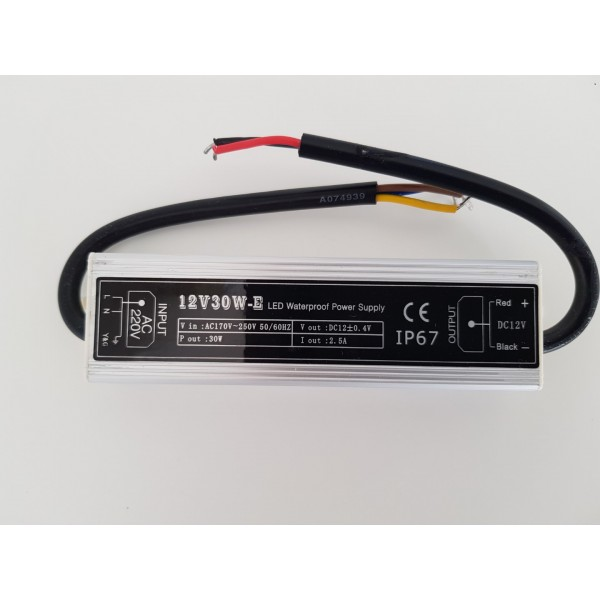 12v 30W LED power supply - waterproof