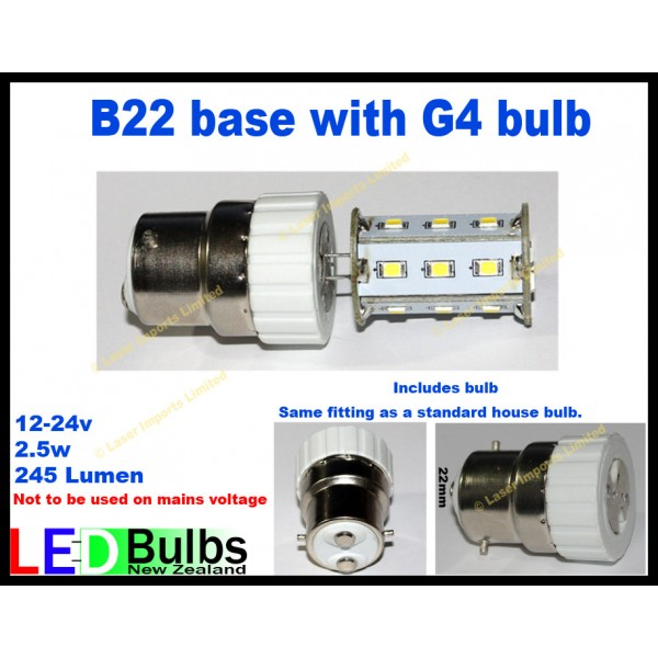 BC22 Bayonet bulb and 18 Led bulb 12-24v