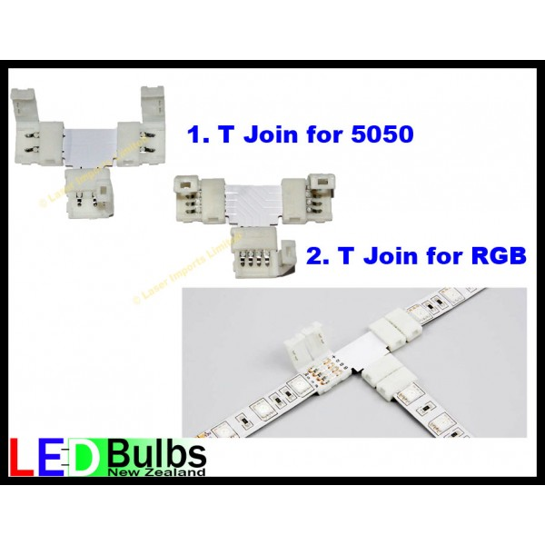T join for 5050 led strip lights