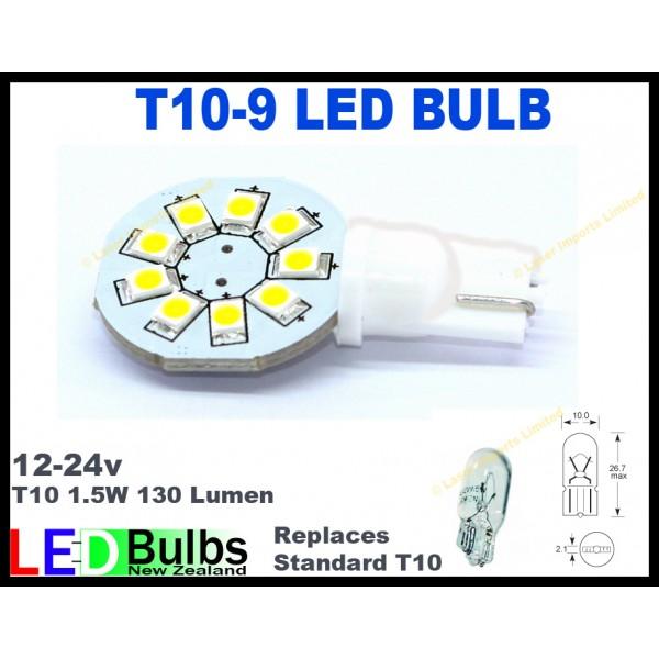 T10 Led bulb 8-30v 9 led