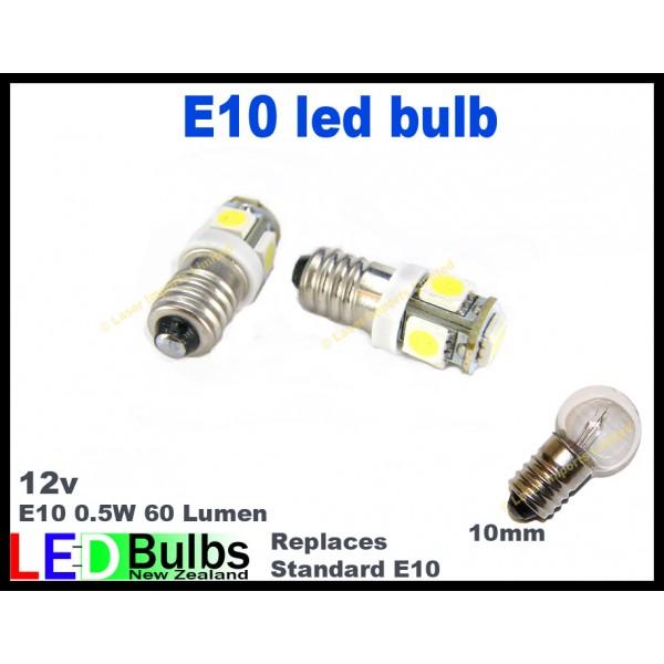 E10 Led bulb 5SMD leds - 2pce