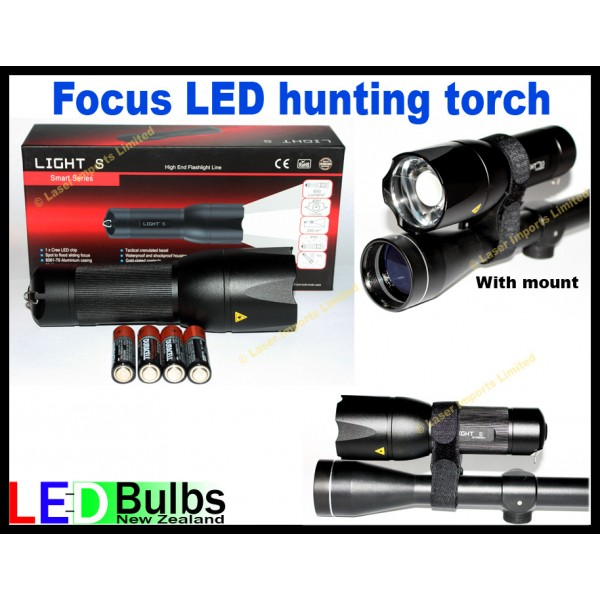 Focus hunting Torch 4xAA multi modes with mount
