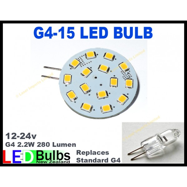 G4 Horizontal 15 LED 8-30v