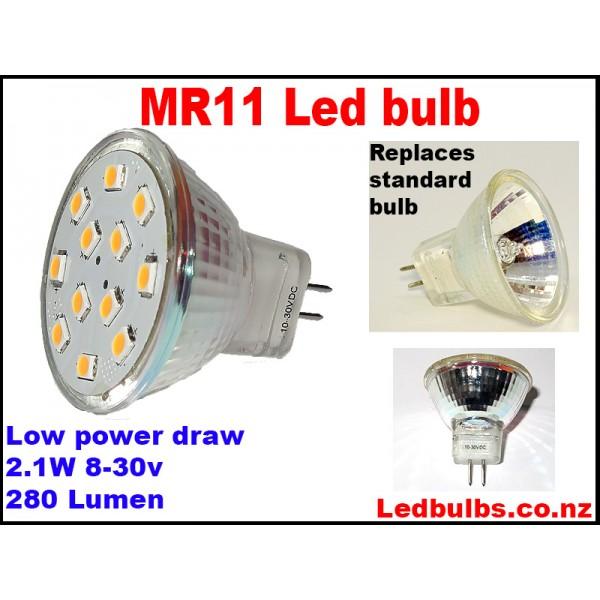 MR11 led bulb 8-30v 2.1w