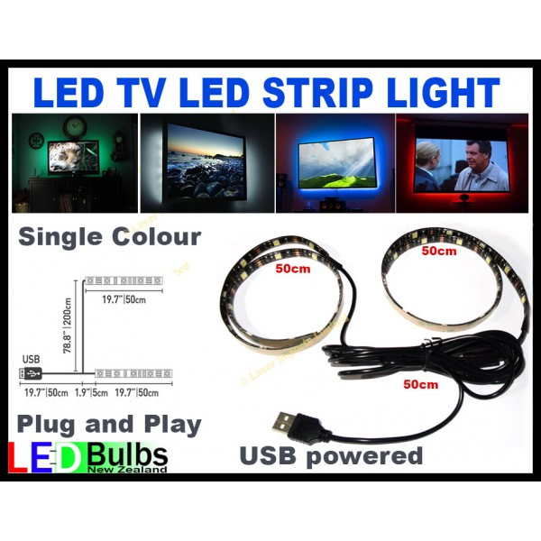 LED USB TV led strips light - single colour 5050