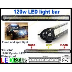 120w led Spot and flood led light bar