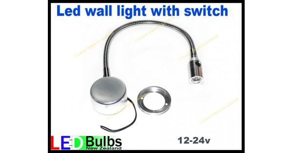 Wall Light With Switch Nz : Led flexi wall light with built in switch 12-24v