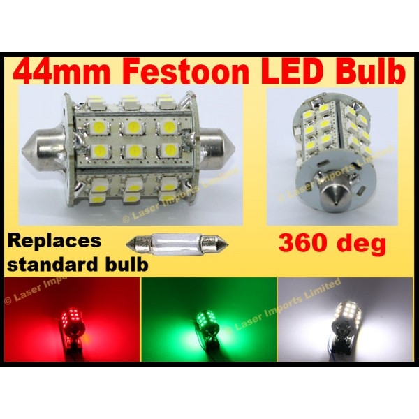 44mm Festoon 360deg For nav lights 180 Lumen