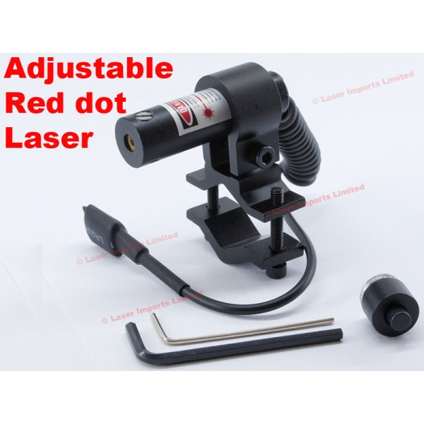 Adjustable red laser barrel mount