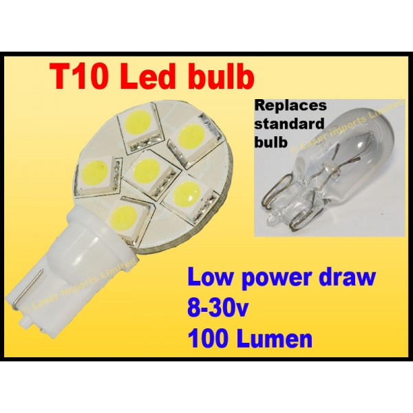 T10 Led bulb 8-30v 6 led