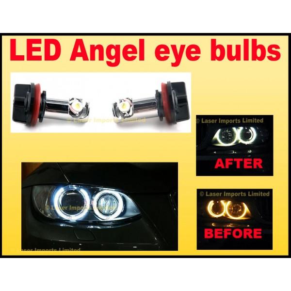 BMW LED Angel Eyes E70 E82 E87 E92 E93 H8 ICE White 20W