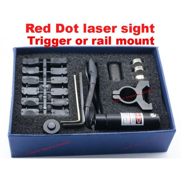 Adjustiable red dot laser trigger mount