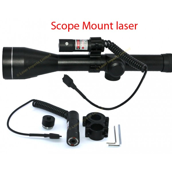 Red laser Scope mounted with pressure switch