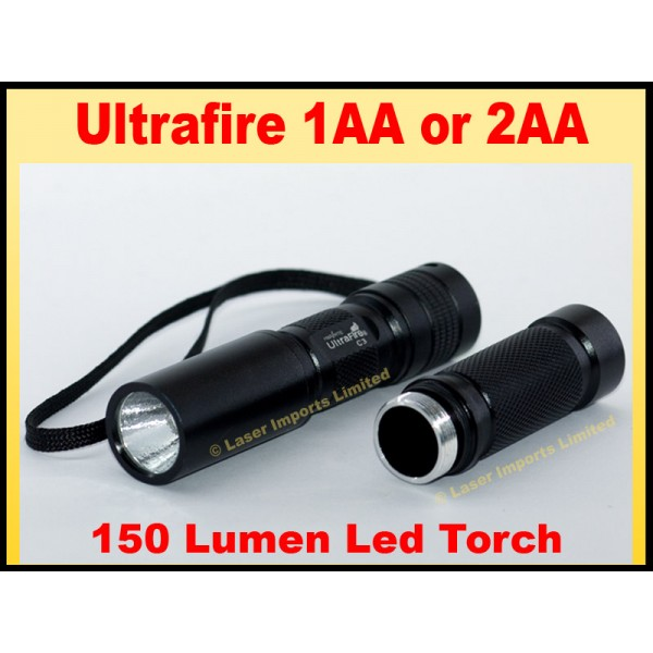 UltraFire C3 Cree 1xAA or 2AA Torch with extension tube