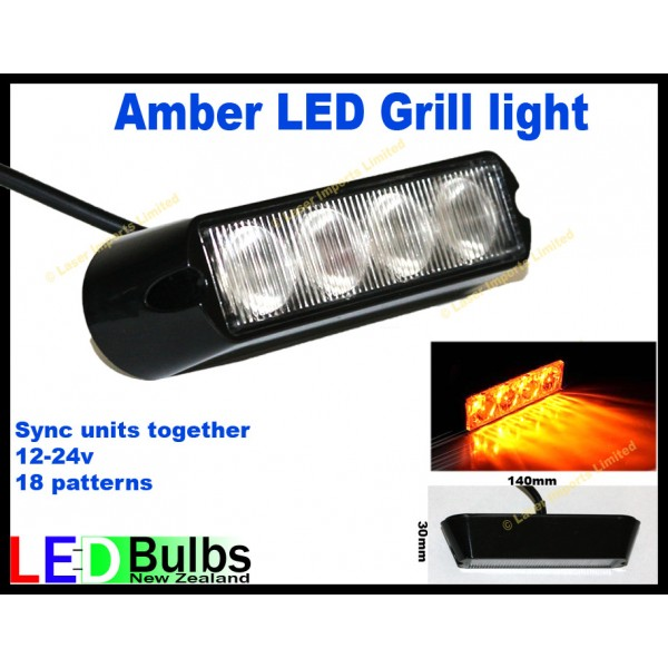 Amber LED grille or external flashing light