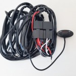 """2pce 170W LED 7"""" driving lights 12-24v complete with wiring harness"""