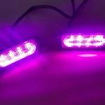 Purple LED grille flashing lights x2