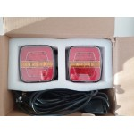 Trailer lights 10~30V, LED with wiring kit and 7 pin plug - E Mark certification waterproof