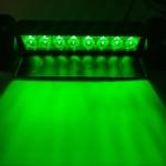 Green flashing LED dash light 9-30v - Plugin