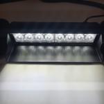 White flashing LED dash light 9-30v - Plugin