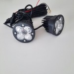 """2pce AURORA LASER LED 3"""" driving lights 12-24v complete with wiring harness"""