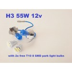 H3 - Ice white bulbs - with free led park light