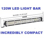 120w LED mini light bar - spot and flood combo